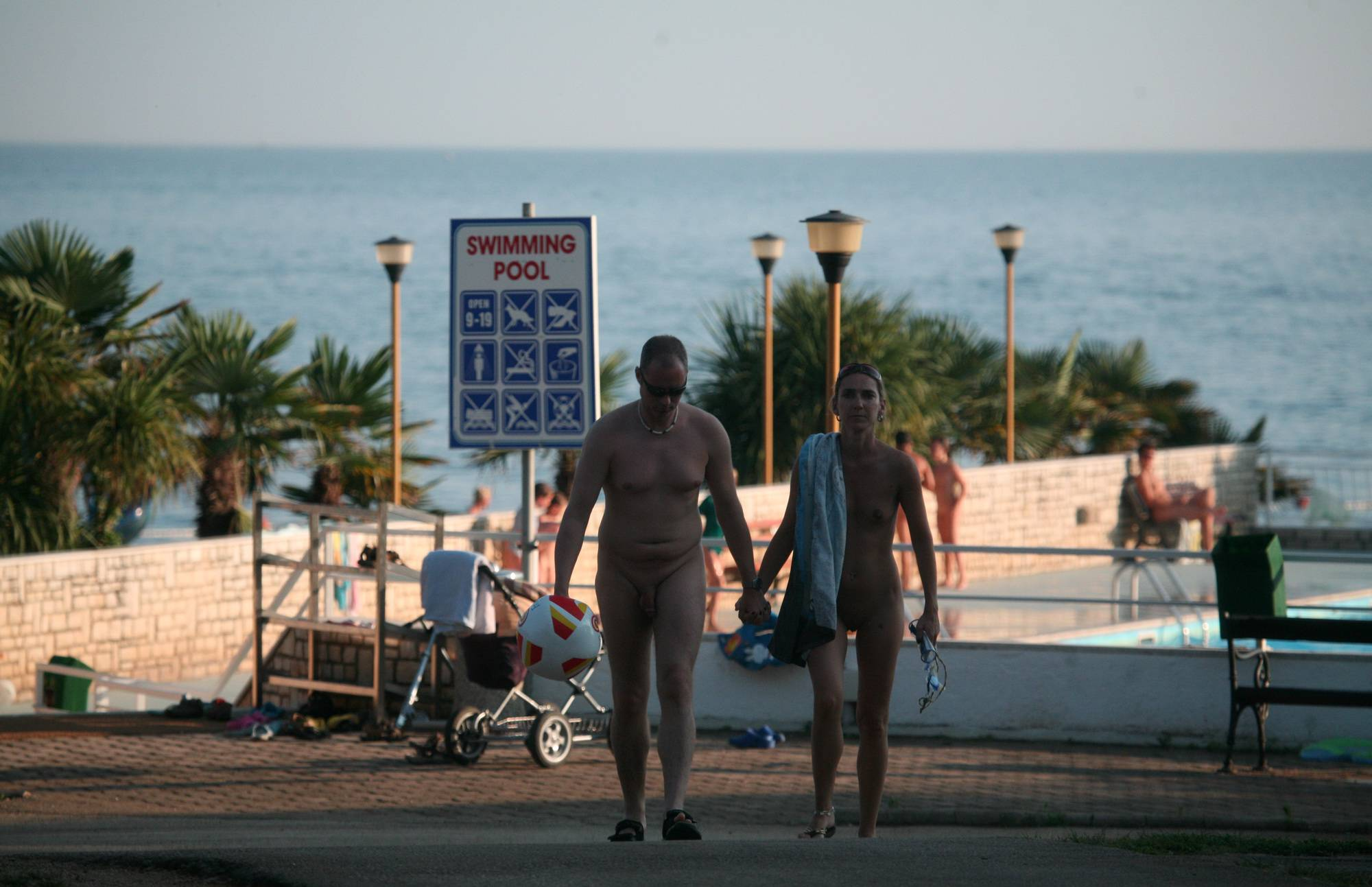 Nudist Pics Adult Couple Heading Out - 2
