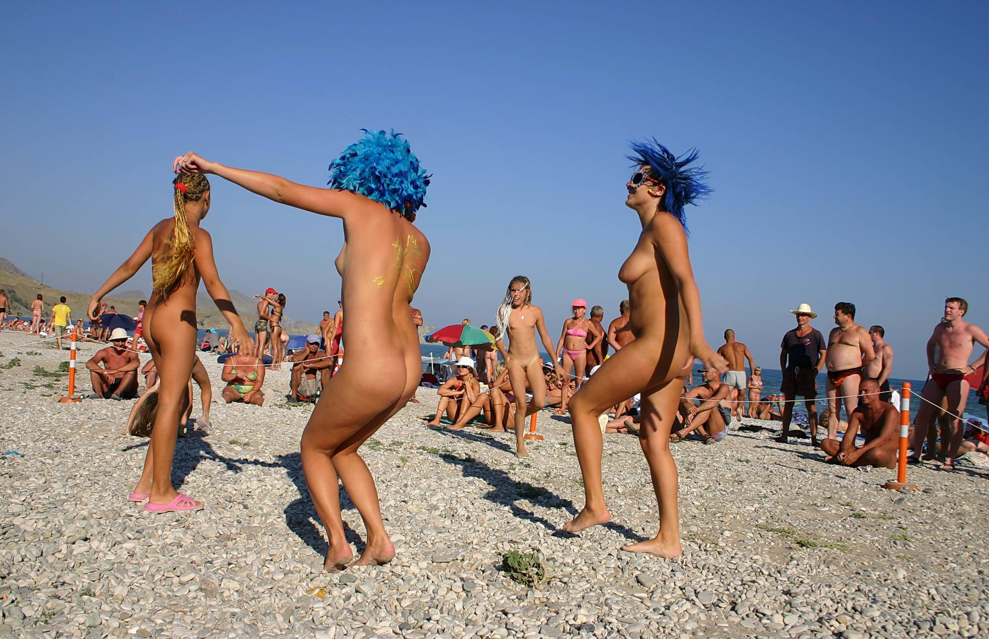 Nudist Pictures Blue Haired Sand Dance - 2