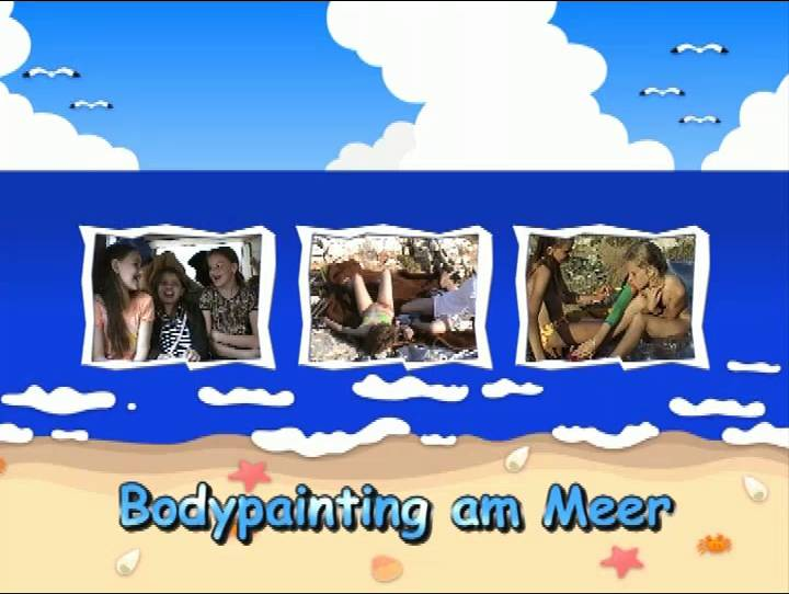 Naturist Videos Bodypainting am Meer - Poster
