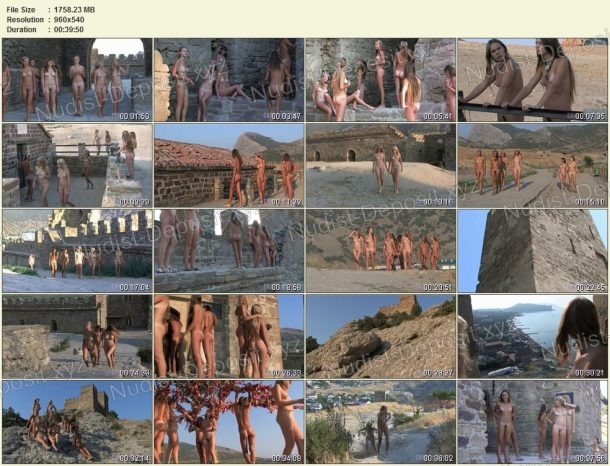 Snapshots of Ancient Castle Nudism 1