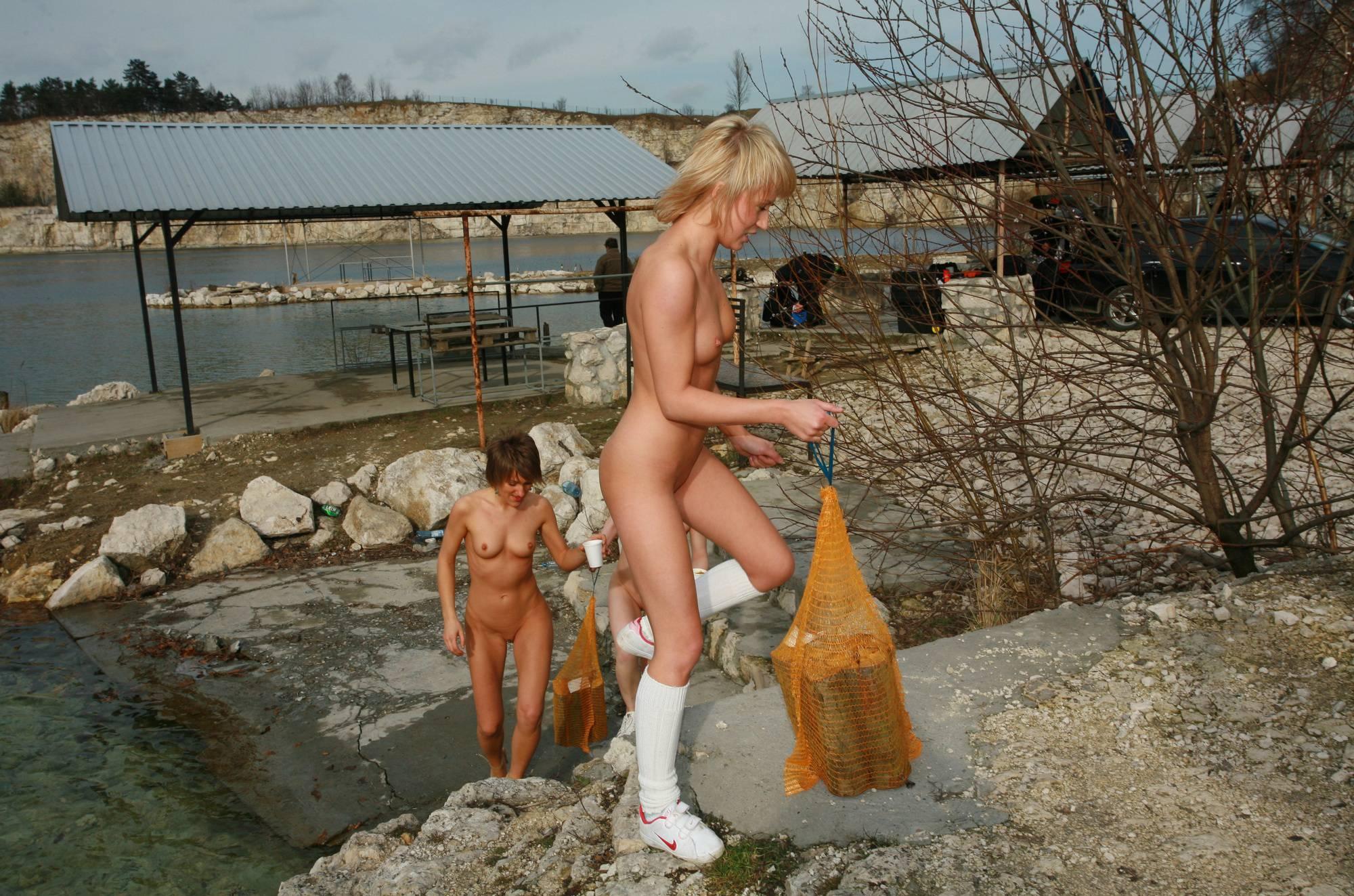 Nudist Pictures Camper Trip Log Carrying - 1