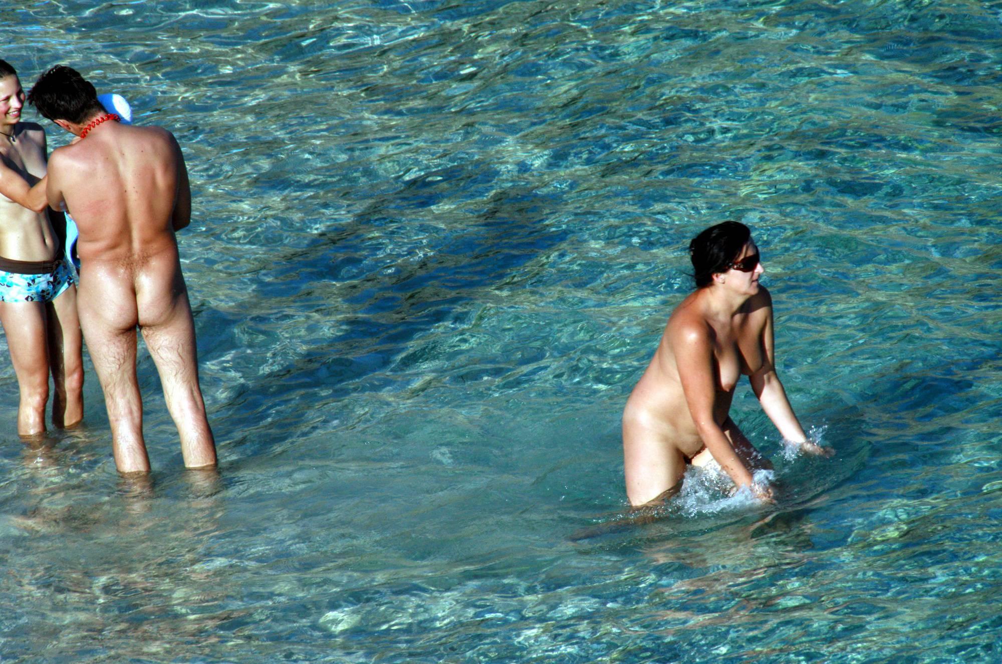 Nudist Pics Family Evening Near Water - 1