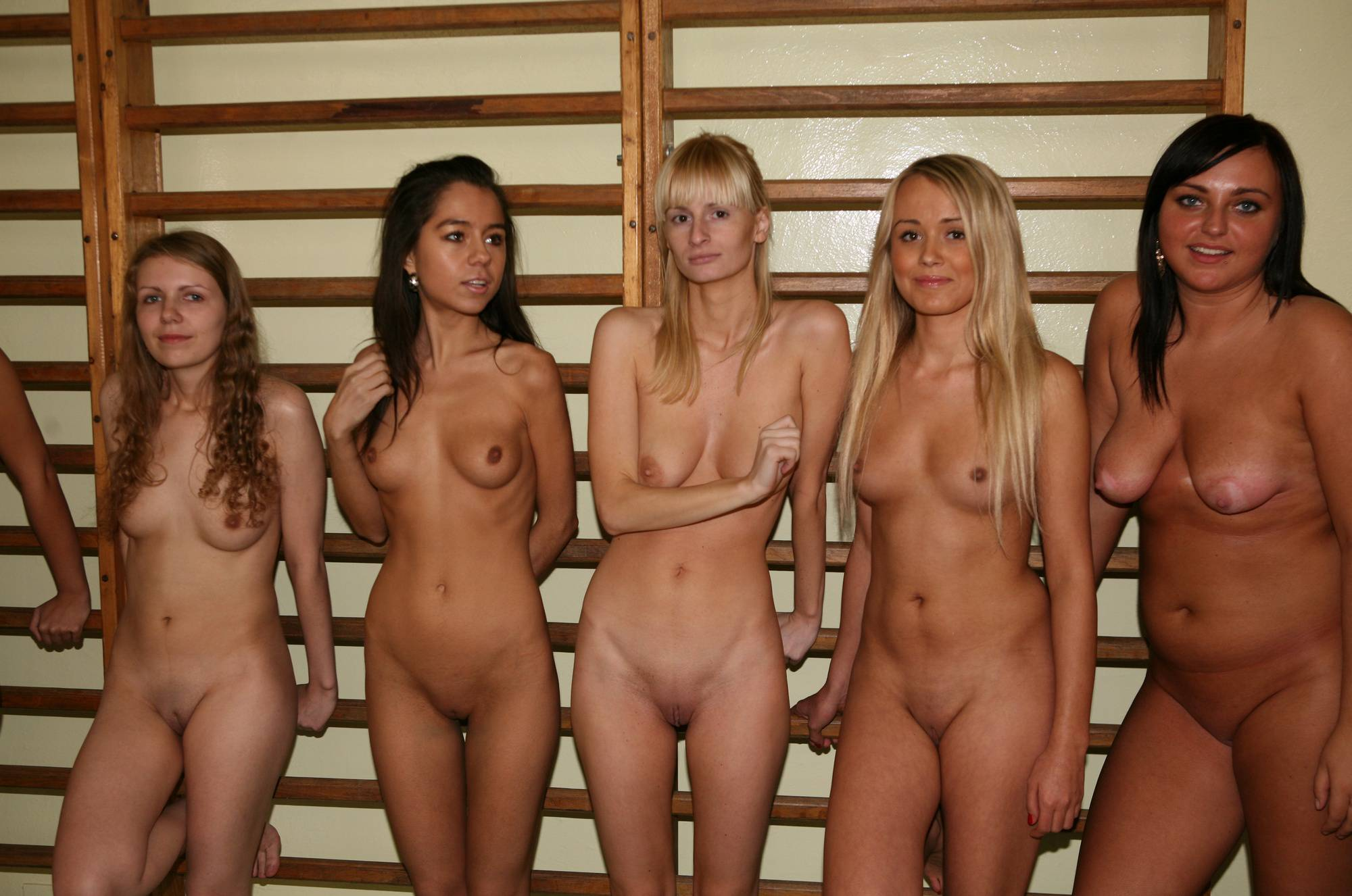 Nudist Pictures Gym Stand Along the Wall - 1