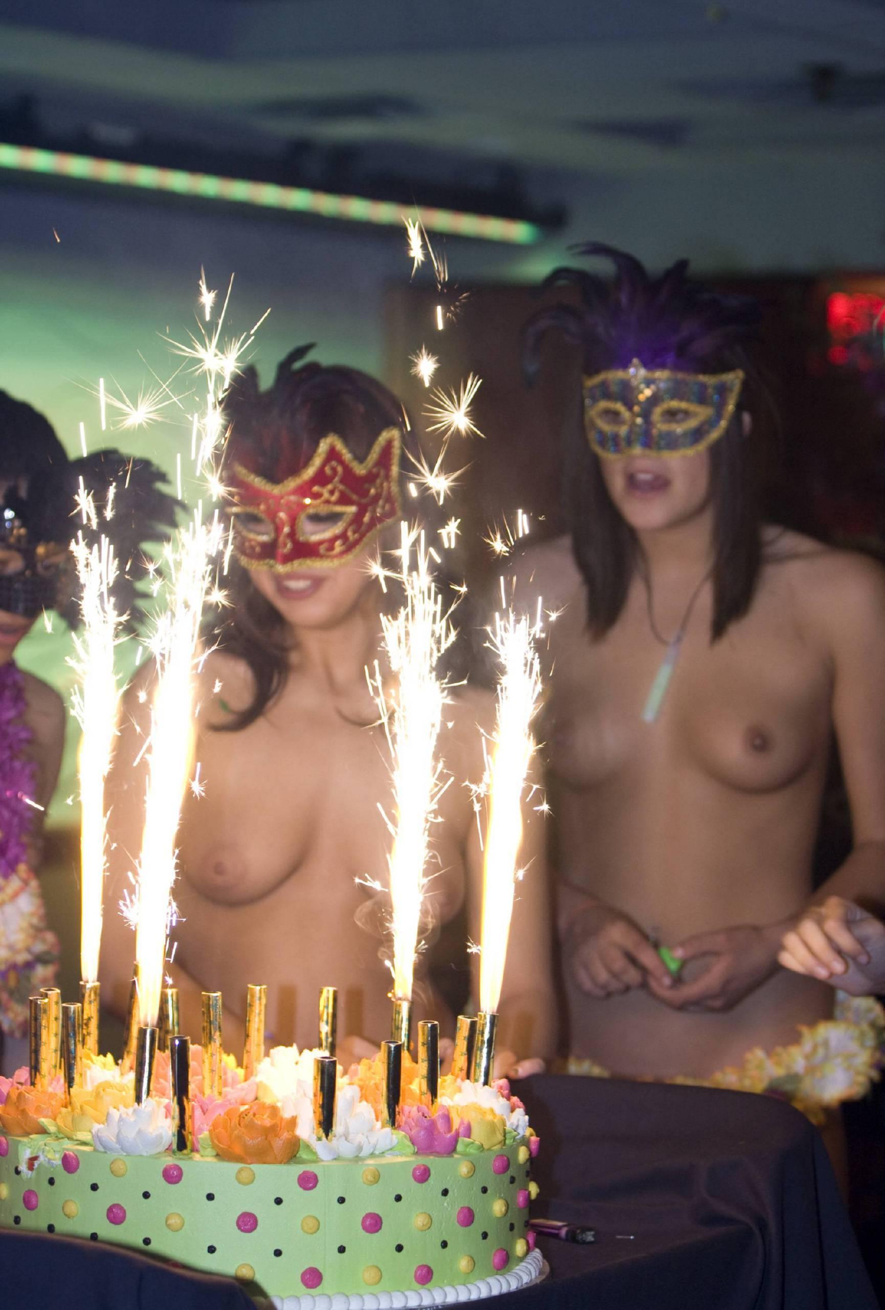 Masquerade Cake Eating - 1
