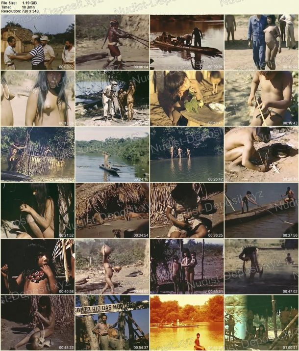 Xingu indians - Expedition to rainforests of Brazil in 1948 frames 1