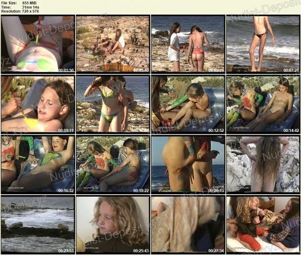 Bodypainting am Meer - screenshots 1