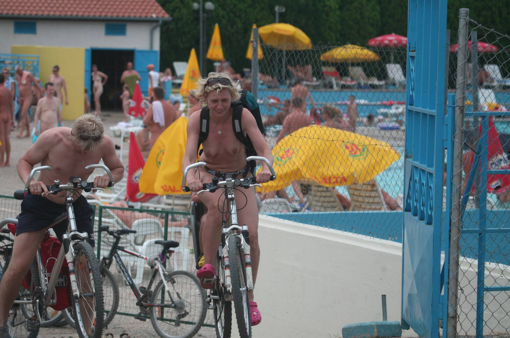 Nudist Photos Naturist Pool Biking Exits - 1