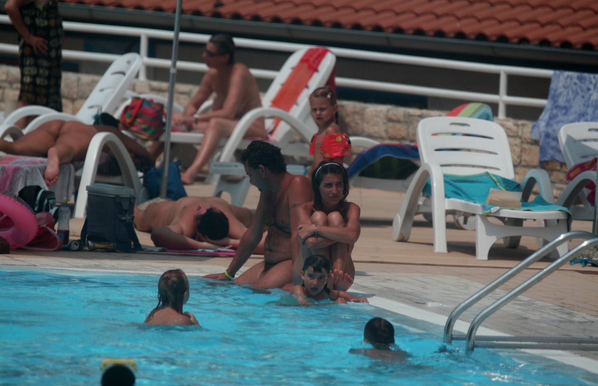 Naturist Pool Youngsters - 1