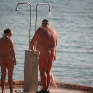 Naturist Shower at Dusk