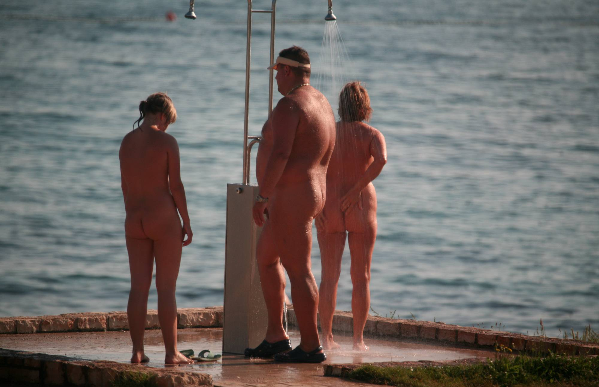 Nudist Pictures Naturist Shower at Dusk - 2