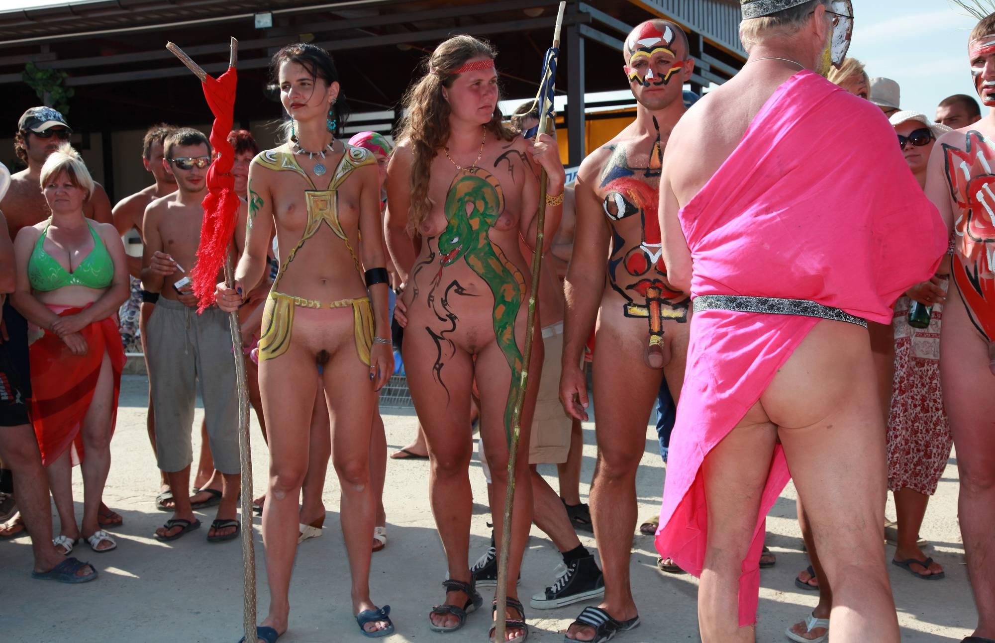 Nudist Gallery Neptune Bodypaint Lineup - 1