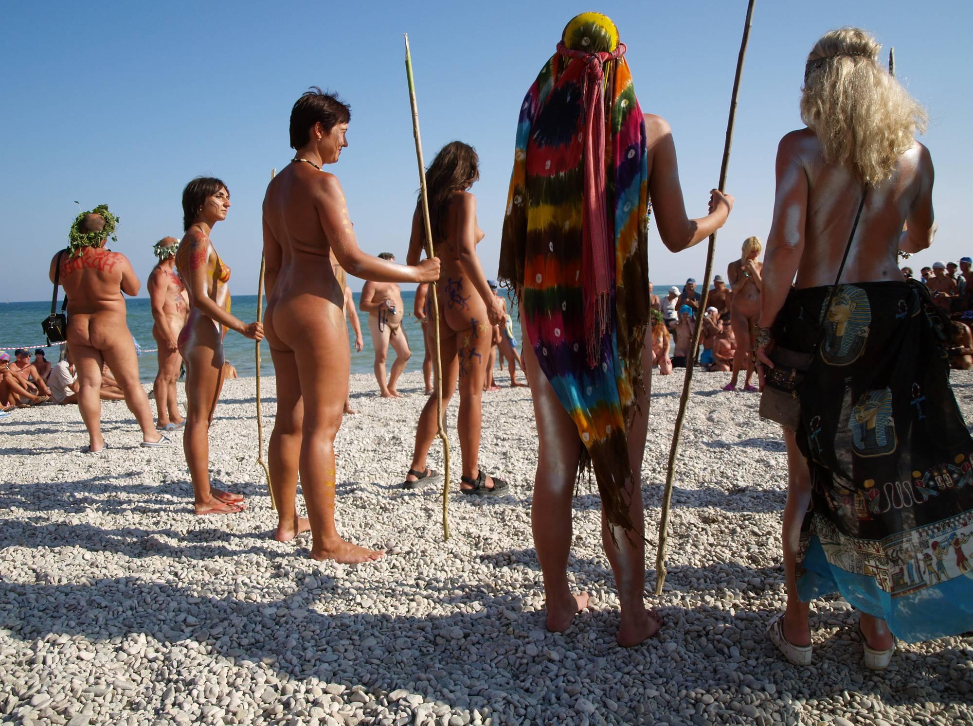 Nudist Photos Nudist Beach Tall Soldiers - 2