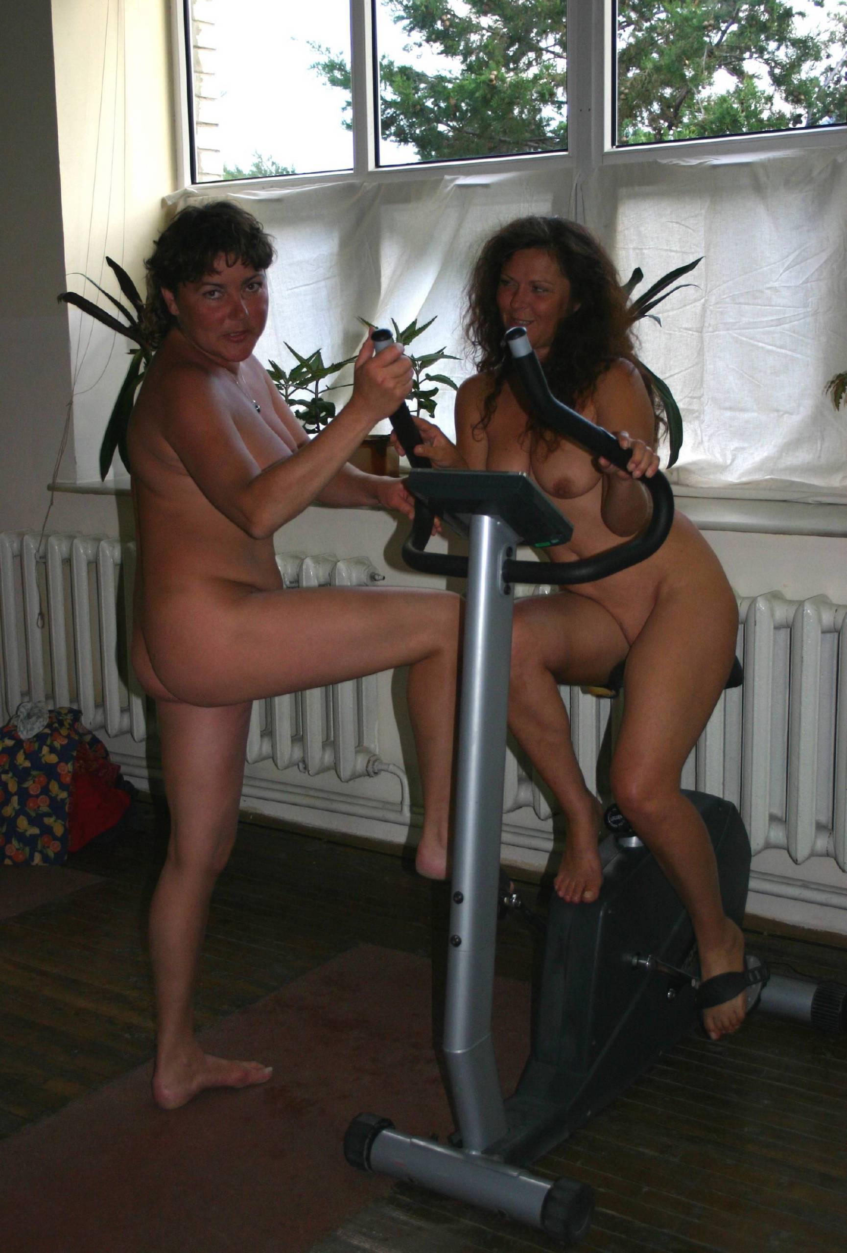 Nudist Family Acrobatics - 1
