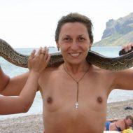 Crimea Nude Snake Show