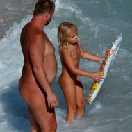 Nudist Kid Family Floaters