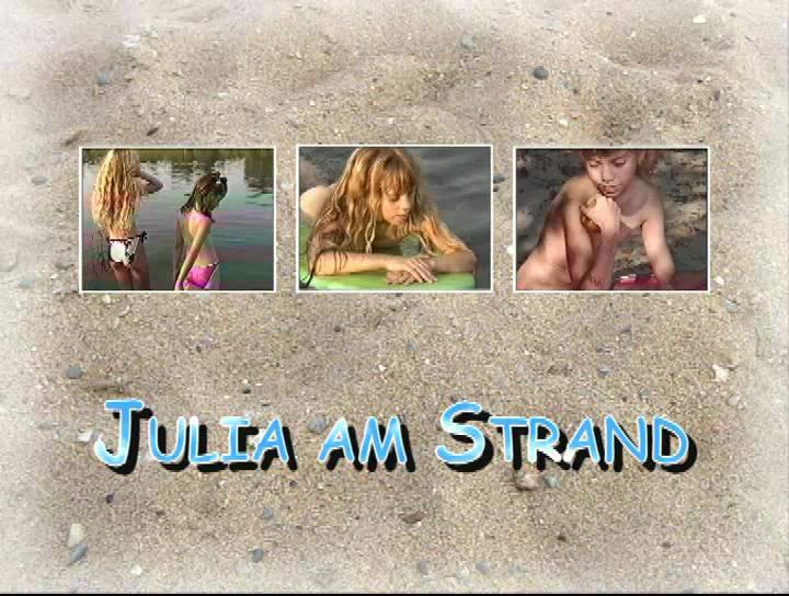 Nudist Videos Julia am Strand - Poster