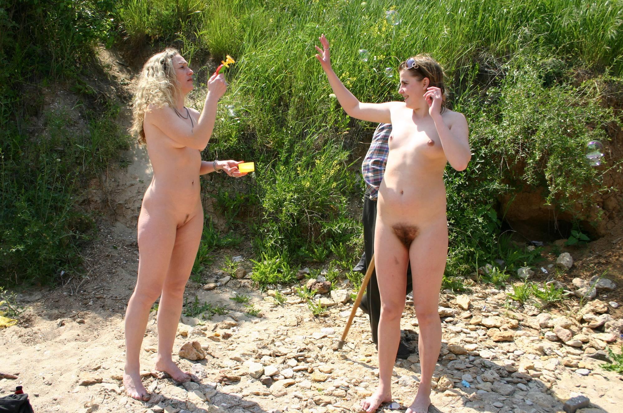 Nudist Gallery 2X Nude Balloon Bombing - 2