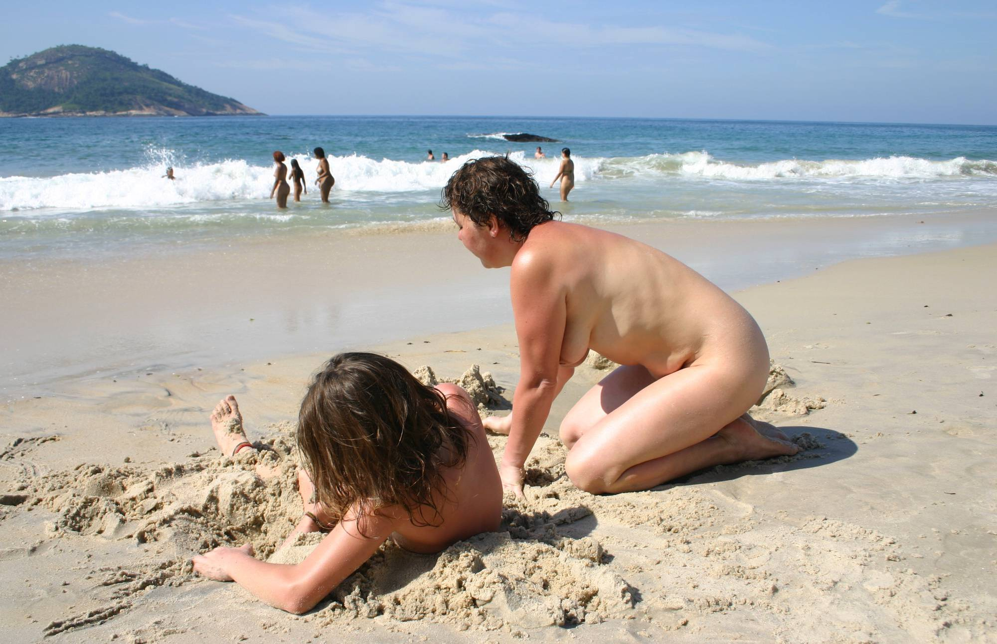 Nudist Pictures Brazilian Buried in Sands - 1