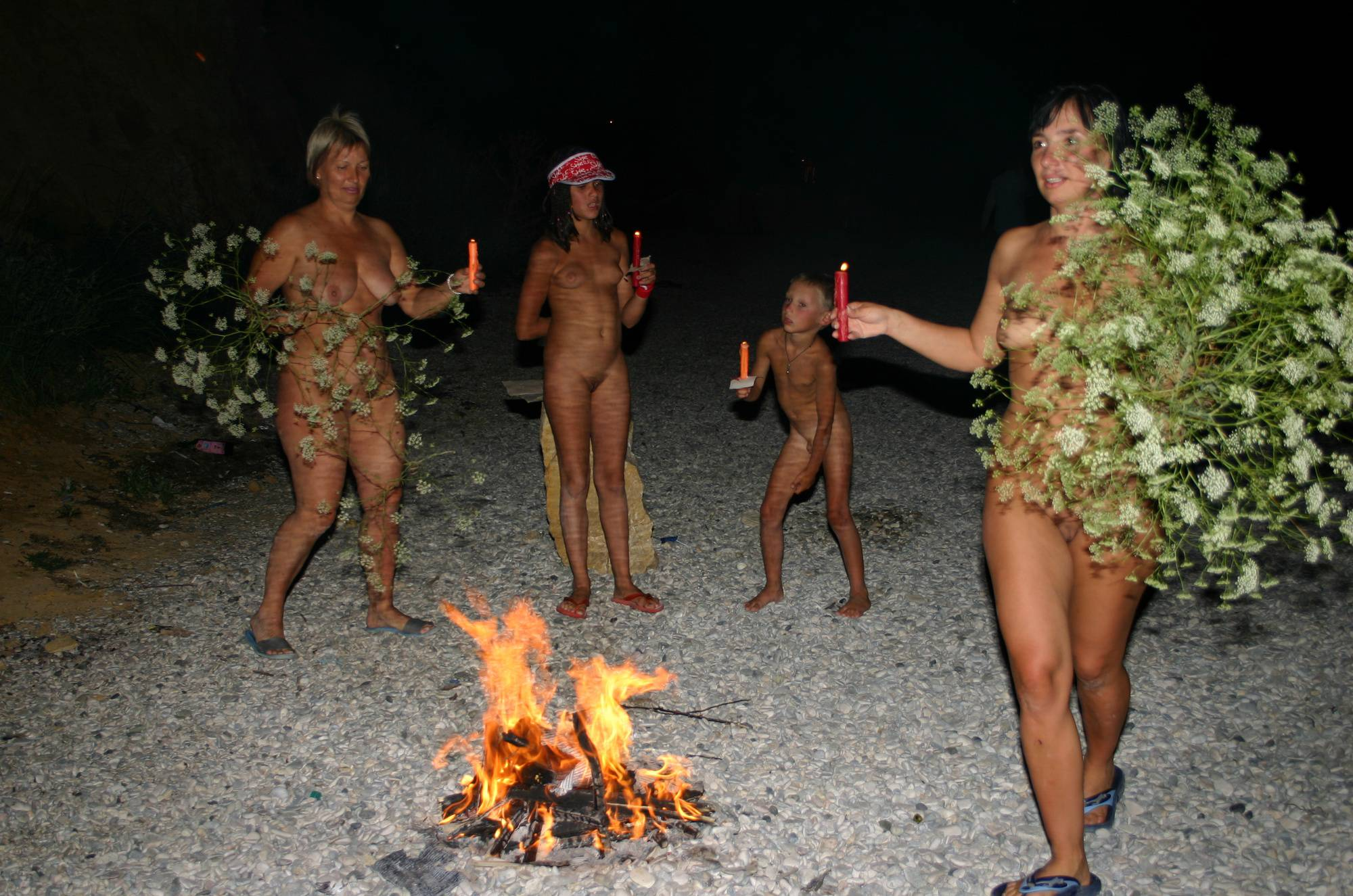 Nudist Gallery Fire and Bow Night Dancing - 2