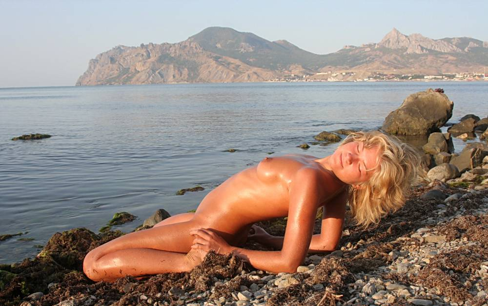 Laying On Some Pebbles - 1