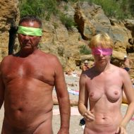 Nude Family Beach Games