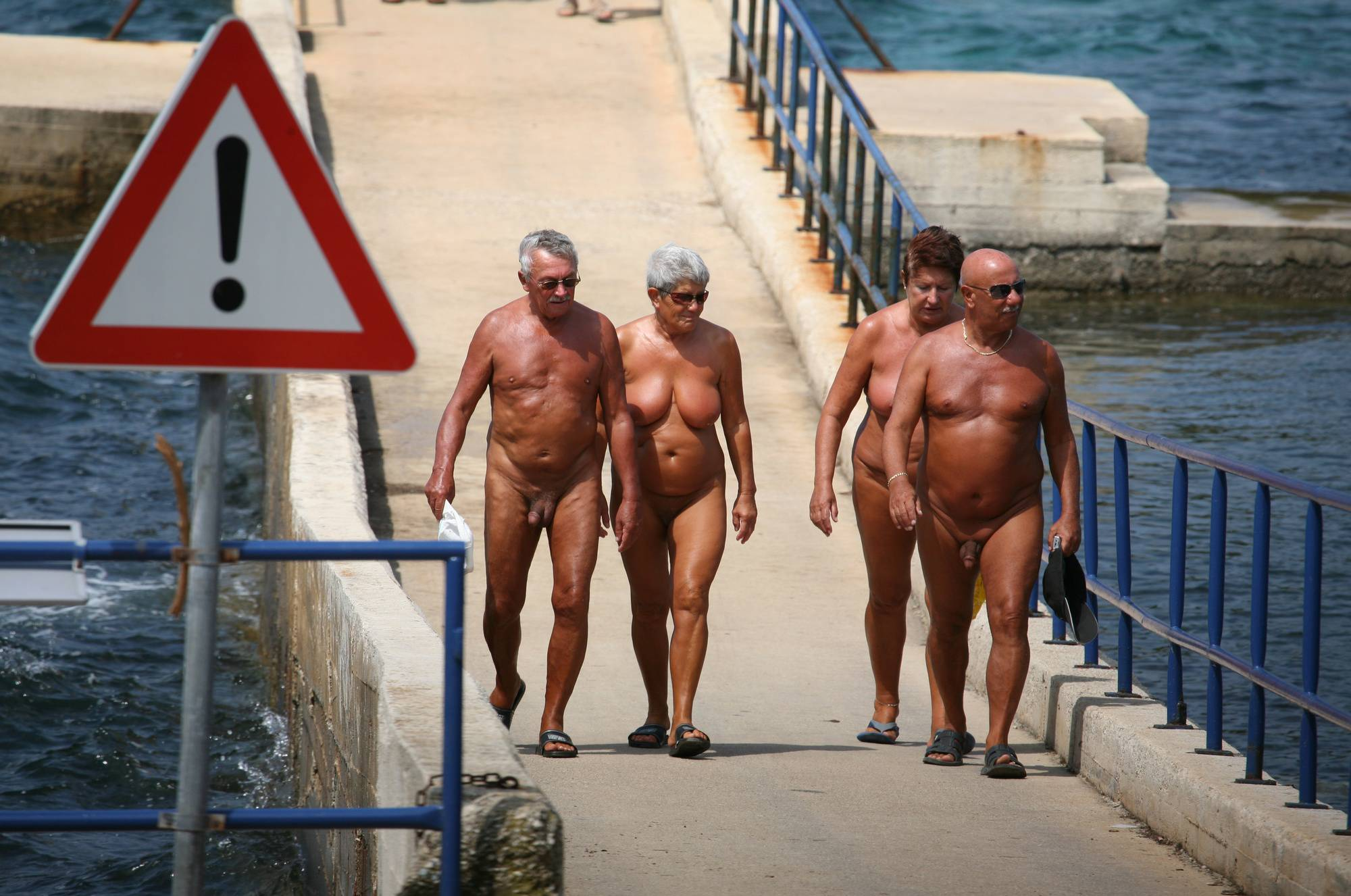 Nudist Pictures Coastal Bridge Crossing - 1