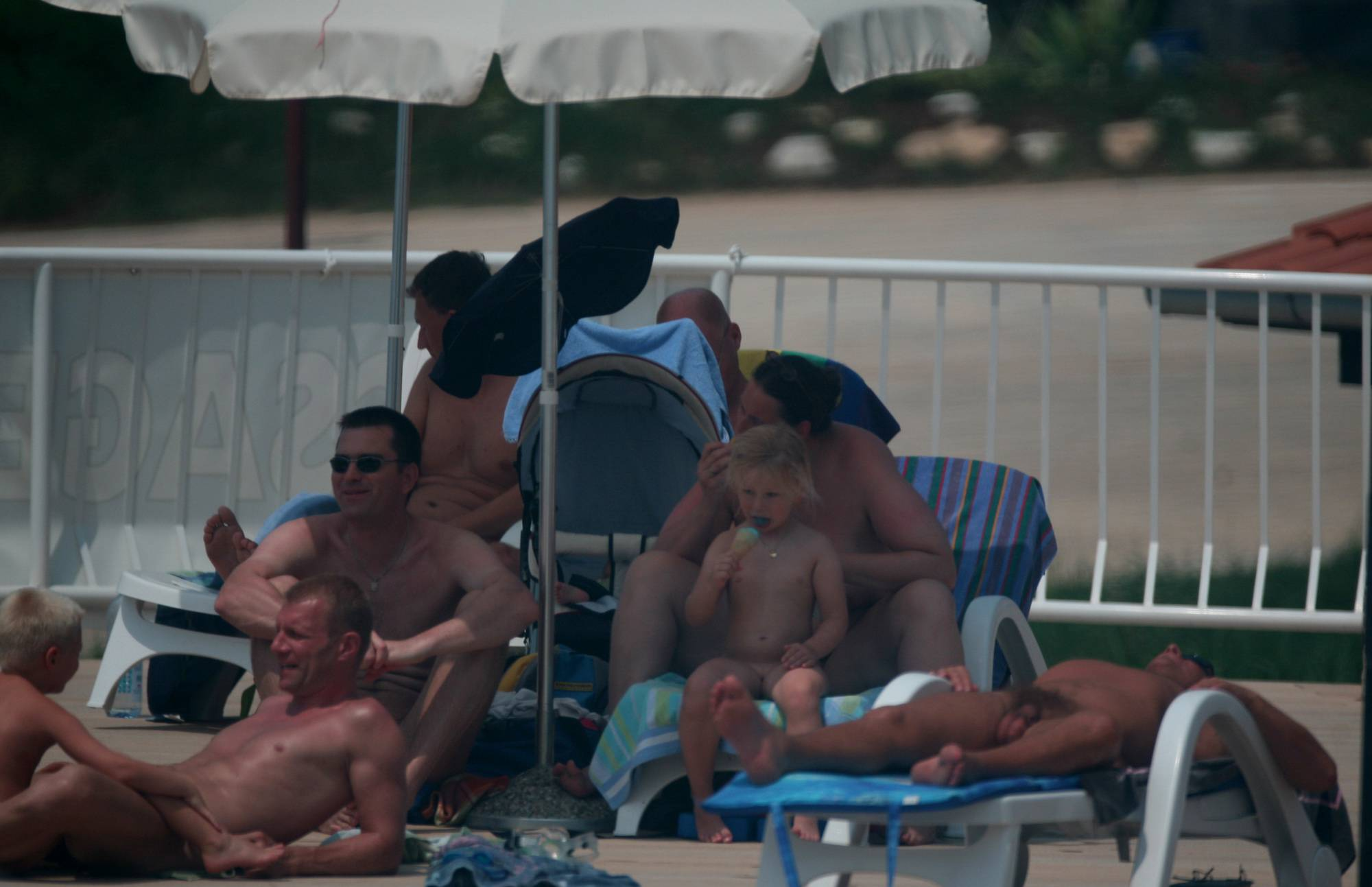 Nudist Pictures Naturist Pool Youngsters - 2