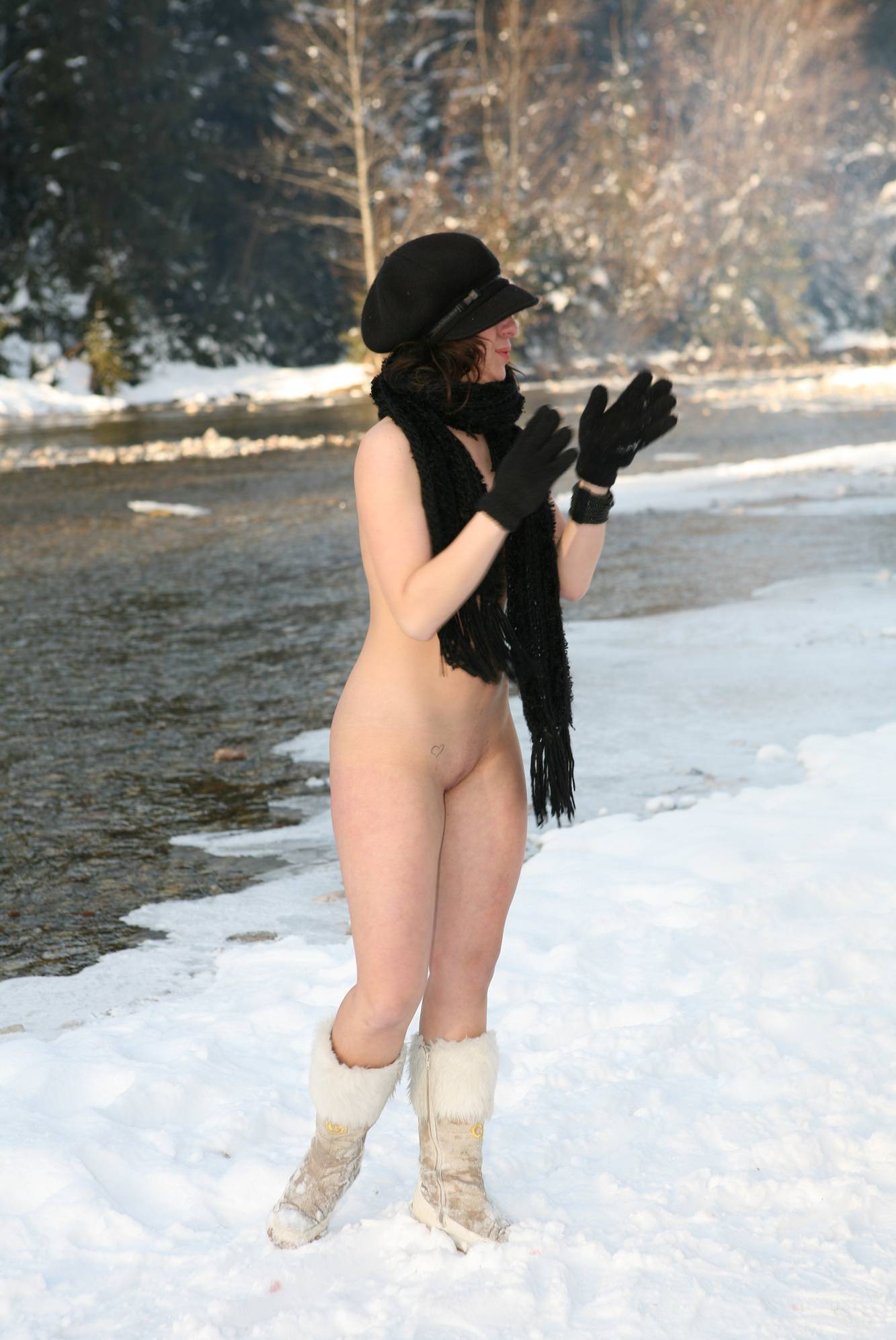 Nudist Pictures Snow Day Winter Session - 1