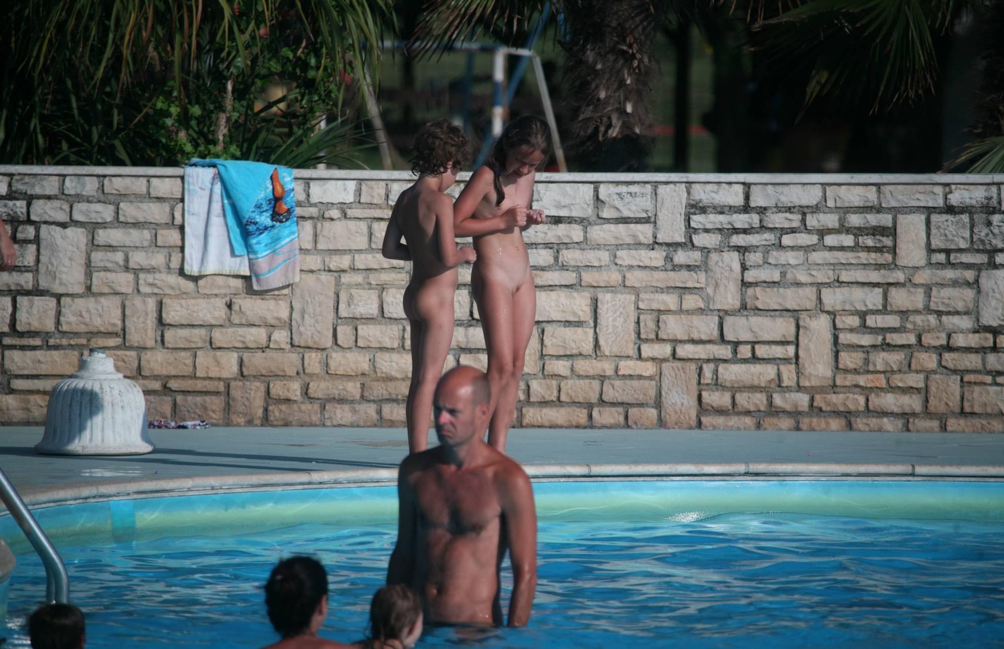 Two Poolside Nudist Girls - 2