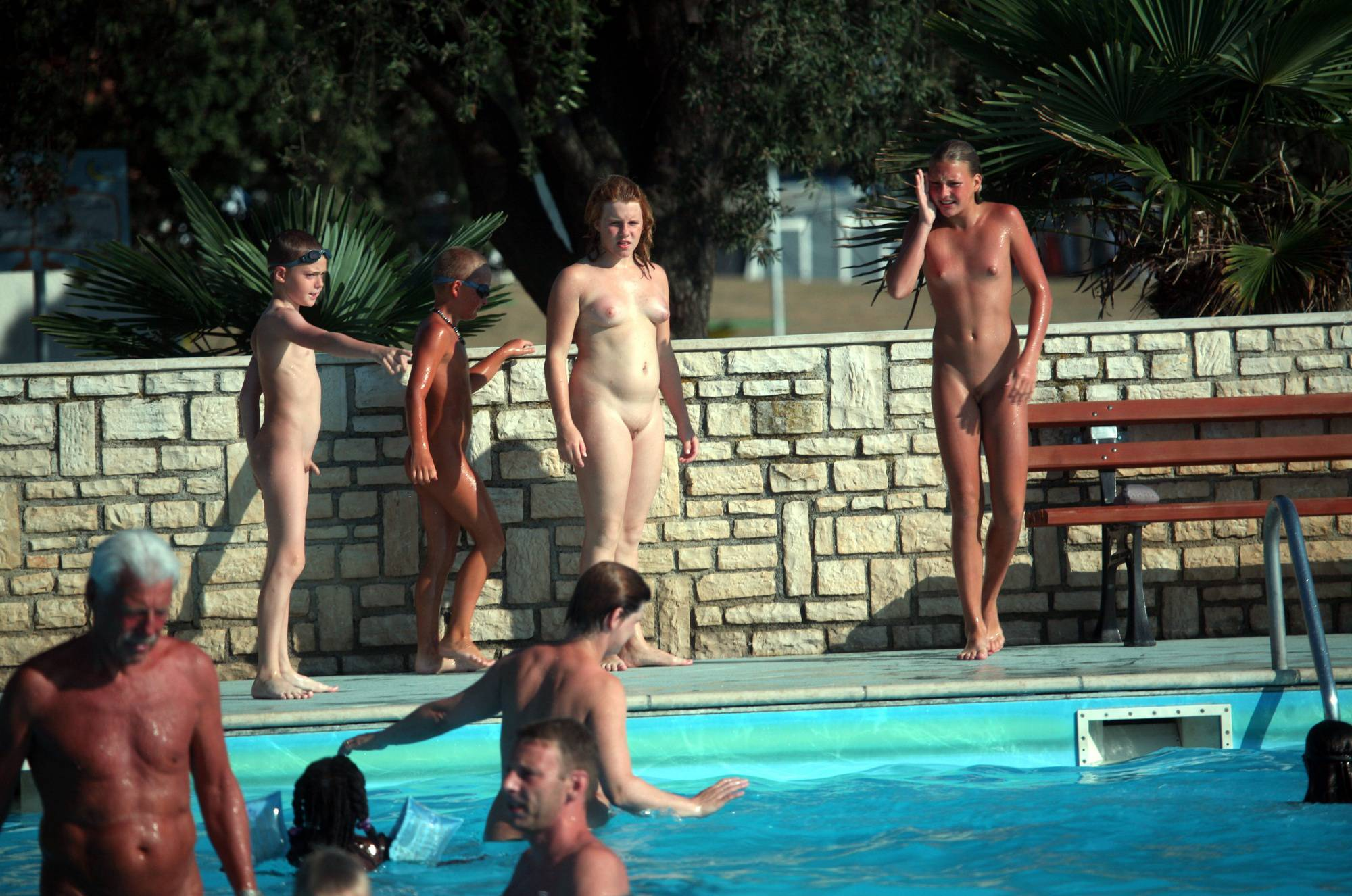 Nudist Pool Group Gather - 1