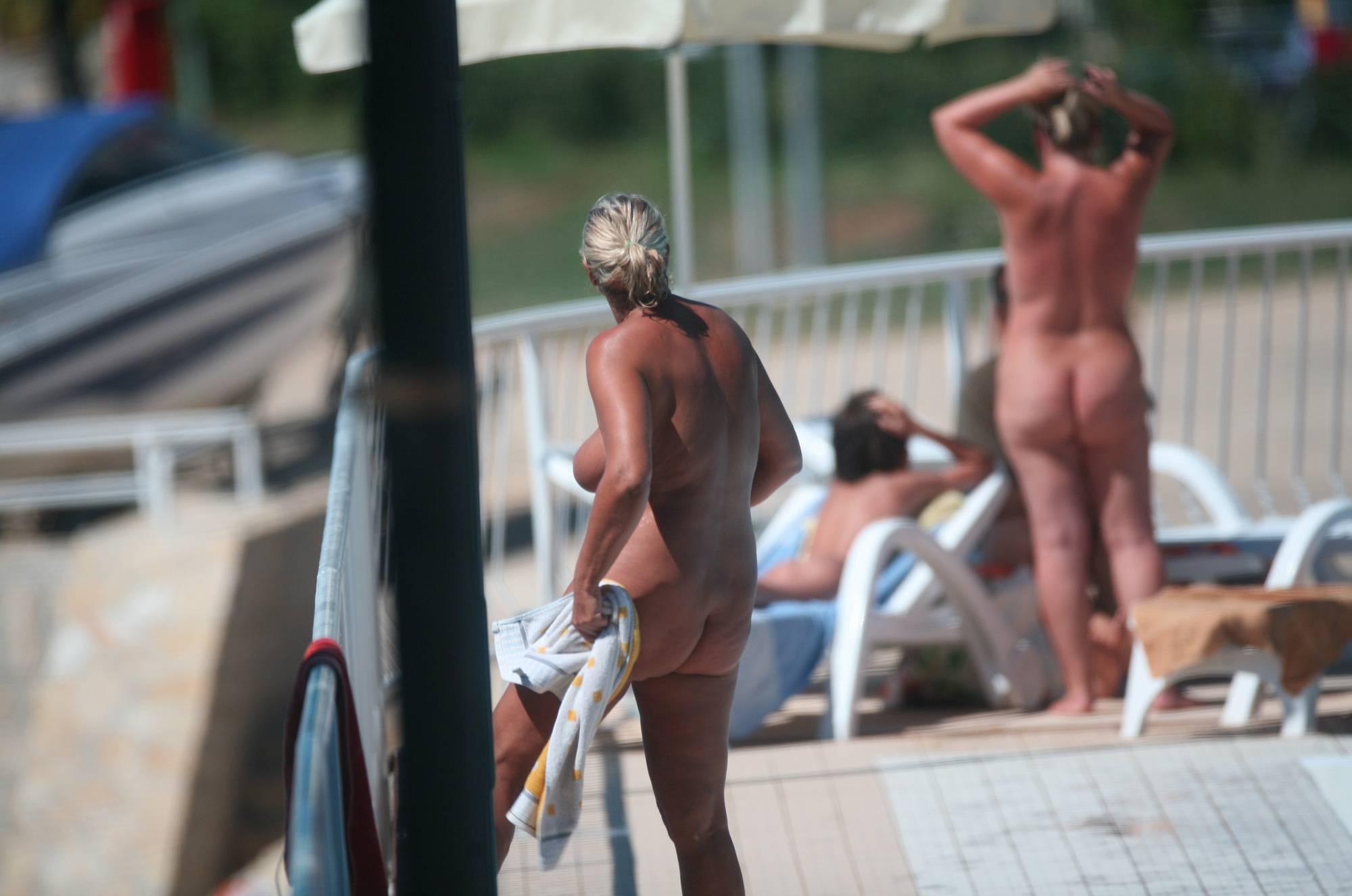 Nudist Pictures Nudist Pool Walk Around - 1