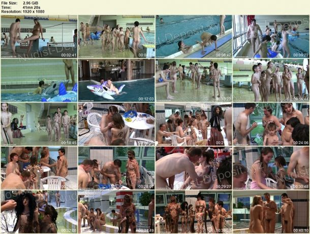 Frames of Naturist Pool and Games 1