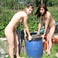 Strolling Garden Girls