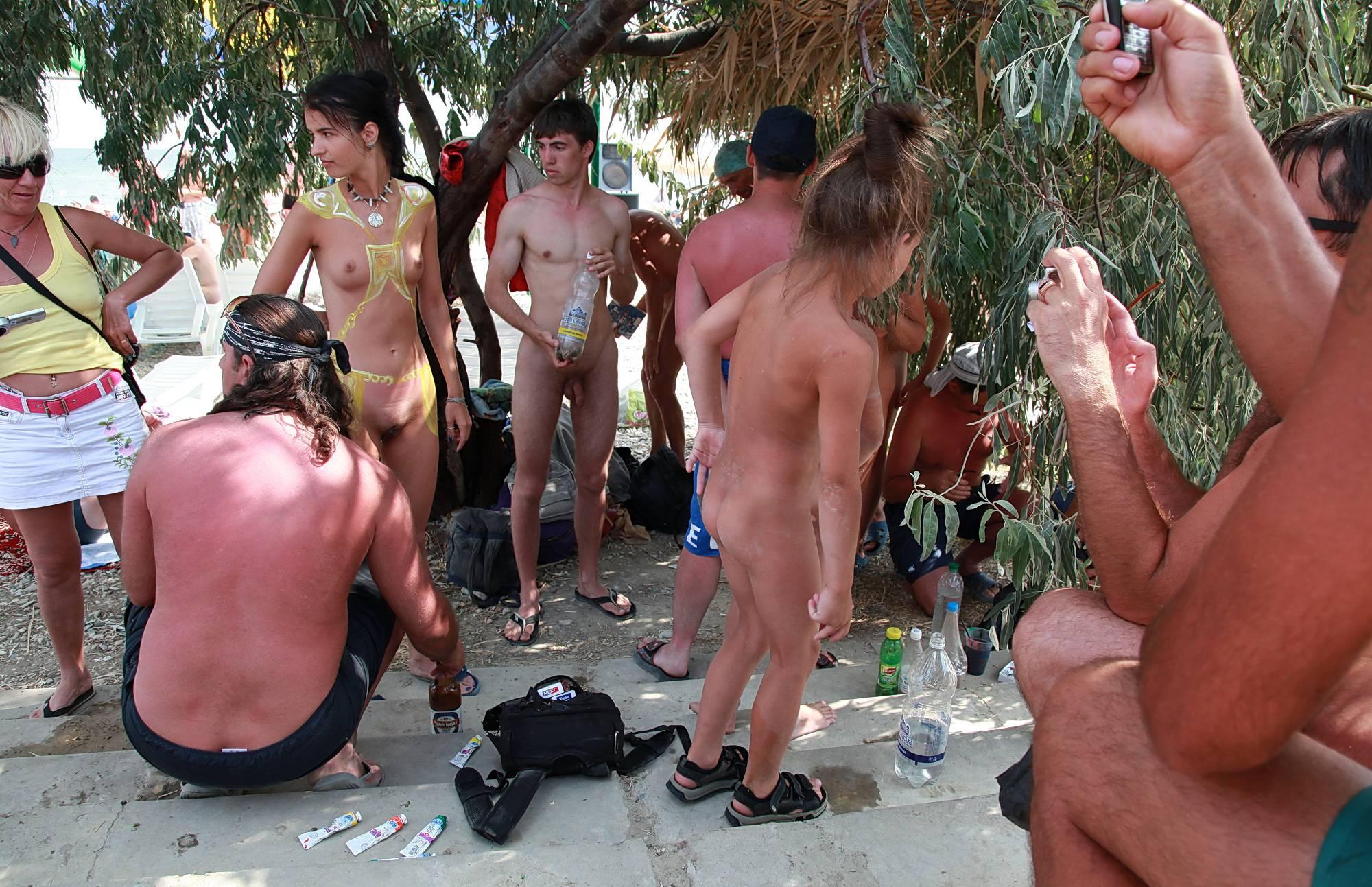 Nudist Photos The Cool Dark Shady Tree - 1