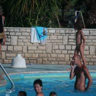 Two Poolside Nudist Girls