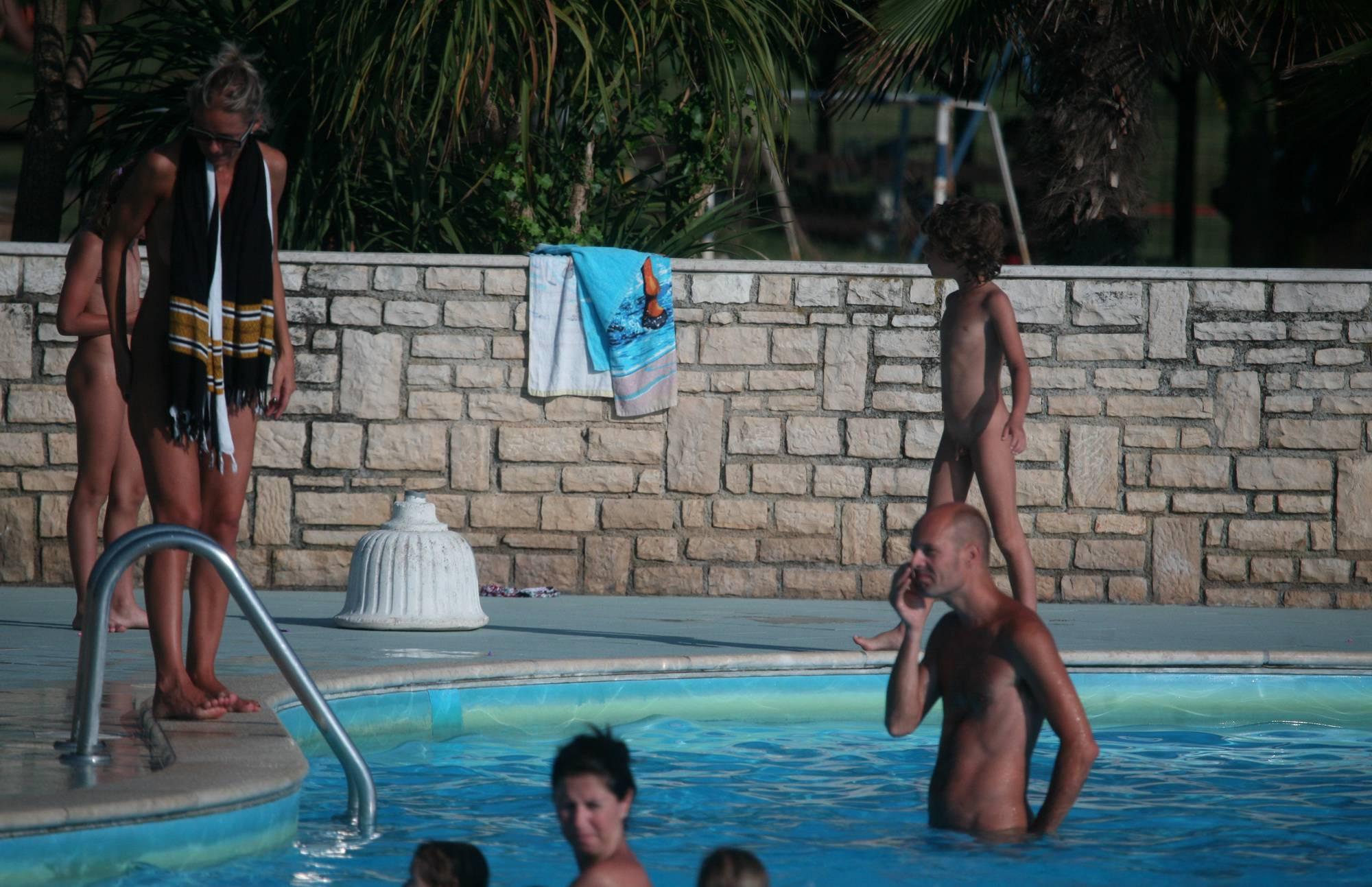 Two Poolside Nudist Girls - 1
