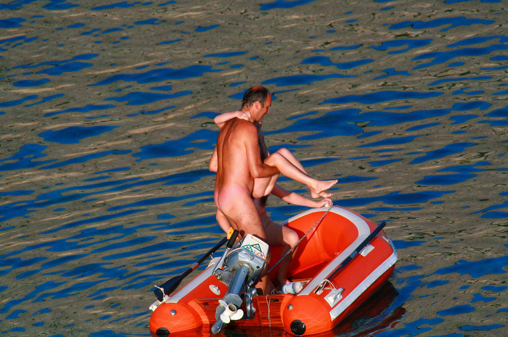 Nudist Pictures Uka FKK In-Water Boating - 1